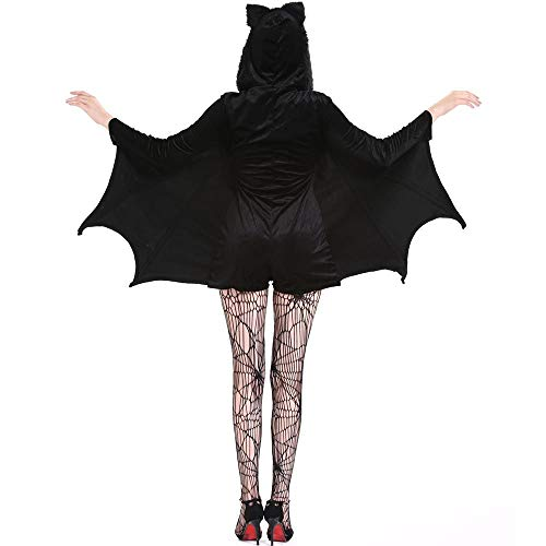 YOUTH UNION Women's Halloween Cosplay Costume Bat Vampire Dress Up (L) by YOUTH UNION (Image #1)