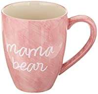 Mom Life 85202 Mama Bear Pink Large 20 oz Ceramic Coffee Mug Tea Cup, Pink