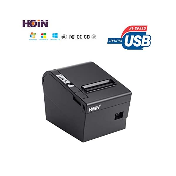 JT Hoin 80 mm Direct Thermal Printer with Auto Cutter USB and Lan Interface