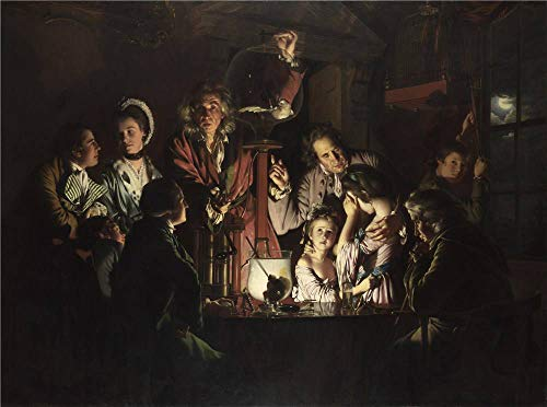 Polyster Canvas ,the Best Price Art Decorative Prints On Canvas Of Oil Painting 'Joseph Wright 'of Derby' An Experiment On A Bird In The Air Pump ', 18 X 24 Inch / 46 X 61 Cm Is Best For Basement Artwork And Home Artwork And Gifts