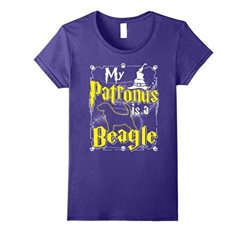 Womens My Patronus Is A Beagle T-shirt Beagle Lovers Medium Purple