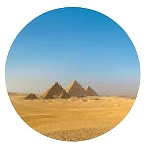 alfombrilla de ratón Grandes pirámides en Giza Valle, El Cairo, Egipto - ronda - 20cm