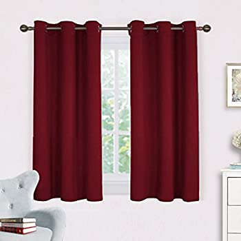 Burgundy Window Curtains Blackout Drapes