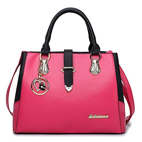 Rosso Per Sacchetti Tote Beige Vino Donna Bottoni Pink FHGJ Black PU YgwPdPq