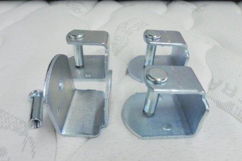 Pack 4 abrazaderas metalicas para somier de tubo 40x30: Amazon.es