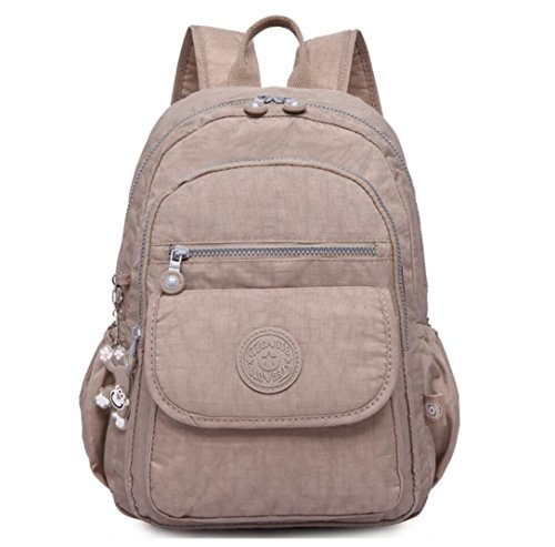 Travel Outdoor Computer Backpack Laptop bag middle (khaki) - 2