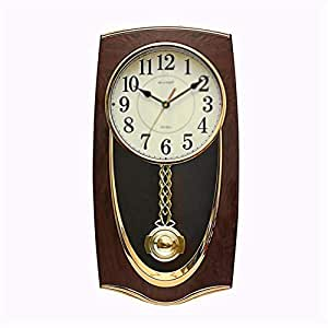 BGGZXX Reloj De Pared Vintage Reloj De Cuarzo, Noctilucente Informar Puntualmente Mudo, Creativo Sala: Amazon.es: Hogar