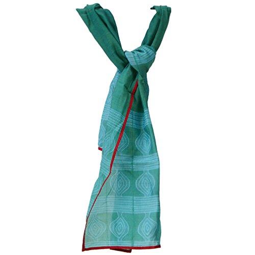 New Dupatta Women Long Shibori Abstract Scarf Stole Cotton Silk Chunni Hijab Neck Wrap 80 X 22