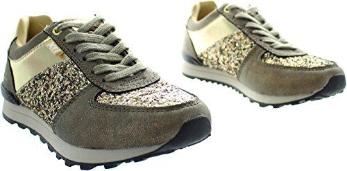 Xti  55264, Mädchen Sneaker gold gold