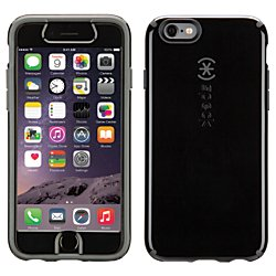 Speck Candyshell Case For iPhone 6 With Faceplate, Black/Gray SPK-A3105 (Iphone 6 Cases Speck Faceplate)