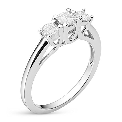 Forever Classic Round Cut 6.0mm Moissanite Engagement Ring, 1.46cttw DEW by Charles & Colvard