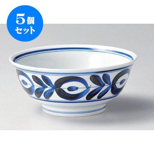 5 piece set heavy bowl majolica ramen bowl [20 x 8.5cm (1250cc)] for Japanese instruments Liquor restaurant inn business