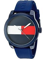 Tommy Hilfiger Mens Denim Quartz Plastic and Rubber Casual Watch, Color:Blue (Model: 1791322)