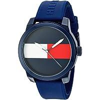 Tommy Hilfiger 'Denim' reloj informal de cuarzo con correa de plástico y goma color: azul (Modelo: 1791322),