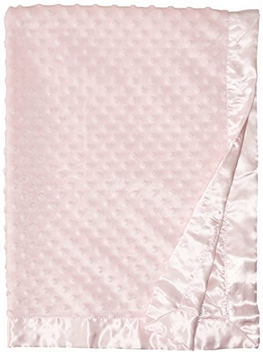 Baby Starters Textured Dot Blanket with Satin Trim, Pink 30
