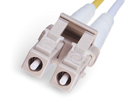 FiberCablesDirect - 50M OM1 LC ST Fiber Patch Cable   1Gb Red Duplex 62.5/125 LC to ST Multimode Jumper 50 Meter (164.04ft)   Length Options: 0.5M - 300M   1gb 10gb lc-st mmf upc sfp 1gbase mm dx ofnr by FiberCablesDirect (Image #1)