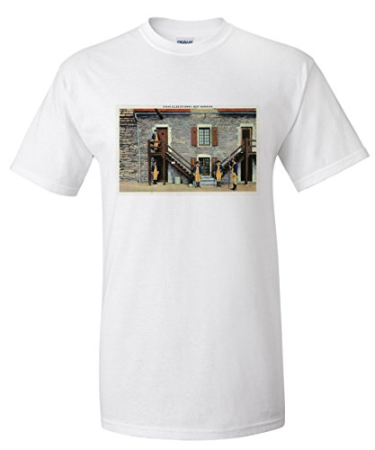 fort-ticonderoga-new-york-west-barracks-ethan-allen-stairway-scene-white-t-shirt-large