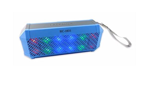 Amazon.com: Bocina Portable Inalámbrica con Bluetooth, FM, Show de Luces LED (AZUL): Home Audio & Theater
