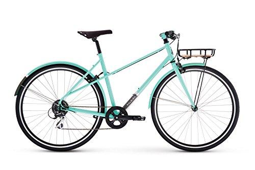 Raleigh Bikes Carlton 8 Mixte Women's City Bike, Green, 52cm/Medium