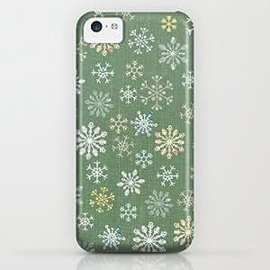 Society6 - Christmas Snowy Green iPhone & iPod Case by Flying Bathtub
