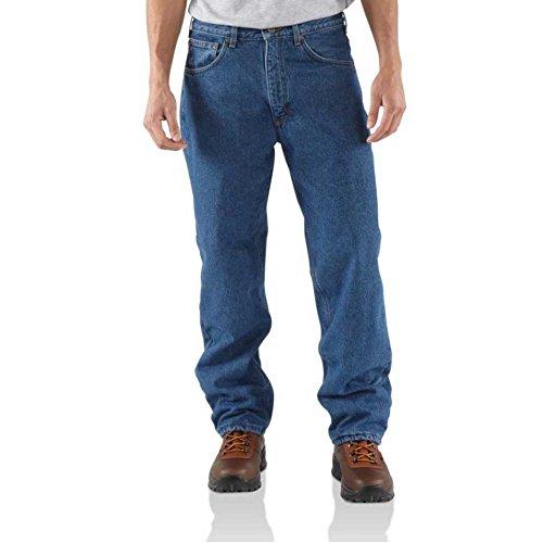Fleece Relaxed Fit Jeans (Carhartt Men's Relaxed Fit Straight Leg Fleece Lined,Darkstone,38 x 34)