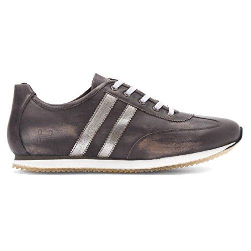 Hardy Hombres Malik Fashion Sneakers Gris / Plateado