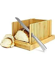 Bamboe broodsnijmachine Gids voor het snijden van snijplanken en messen Verstelbaar, opvouwbaar, compact  M&W