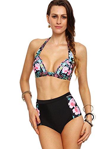 SweatyRocks Bathing Flower Halter Bikini product image