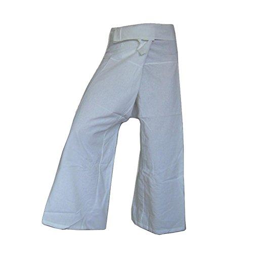 Donna PANASIAM Bianco largo Taglio Pantaloni XwYrqTYp