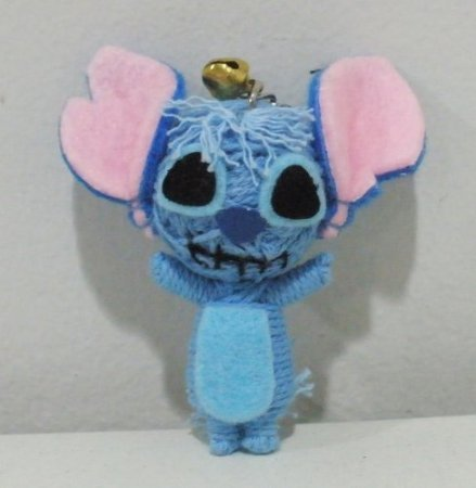 Stitch Mouse Gang Voodoo String Doll Keychain