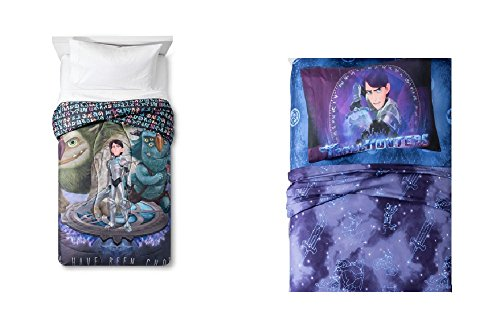 Dreamworks Trollhunters Tales of Arcadia Microfiber Twin Comforter and 3 Piece Twin Sheet Set