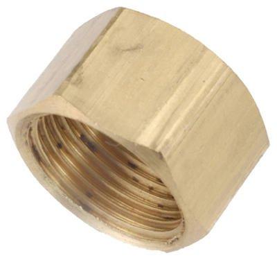 Anderson Metals 730081-04 Cap, Brass, Compression, 1/4-In. - Quantity 10