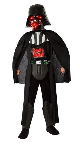 [Star Wars Deluxe Darth Vader Liteup Costume - Large] (Darth Vader Deluxe Kids Costumes)