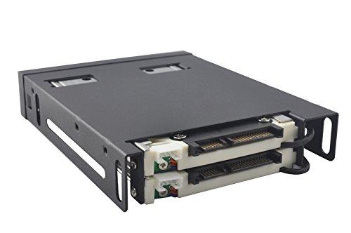 Dshot SATA® alluminio 2 drive 6,35 cm per Trayless Hot Swap SATA mobile backplane - Dual Drive SATA di recinzione Mobile Rack da 3,5 HDD con serratura
