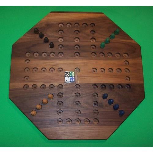 【お気にいる】 パズルマンのおもちゃ W-1933.5 5穴 PEG 18インチ 油絵 Octagon Aggravation 木製 - PEG ゲームボード - ブラックウォールナット - 油絵 - 4プレーヤー - 5穴 B07HKM5ZPV, interioori:fc08f933 --- a0267596.xsph.ru
