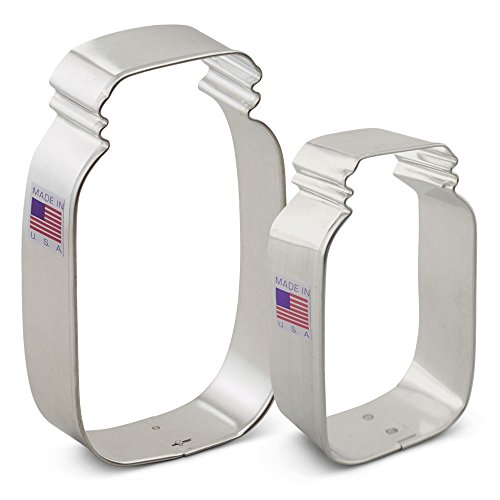 Ann Clark Mason Jar Cookie Cutter Set - 2 Piece - 3 1/2