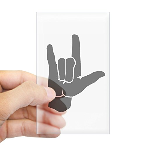 CafePress I Love You (in Sign Language) Rectangle Sticker Rectangle Bumper Sticker Car Decal -