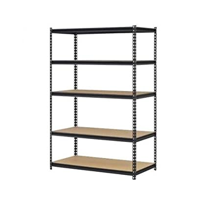 garage storage shelves heavy duty adjustable steel 5 shelf metal racks 4 wide x 2 - Heavy Duty Storage Shelves