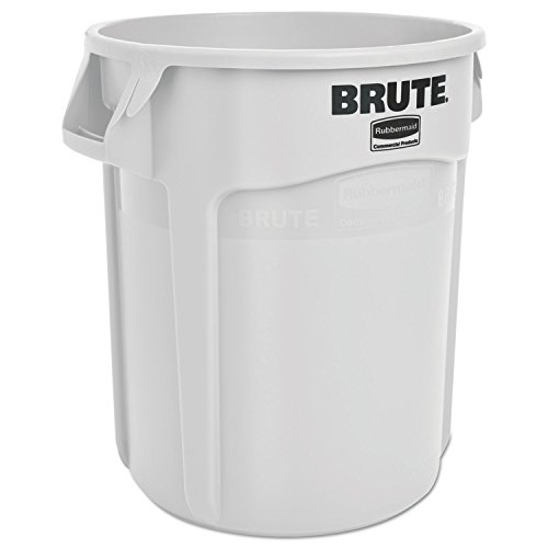 Rubbermaid 2620WHI Round Brute Container, Plastic, 20 gal, White by Rubbermaid Commercial