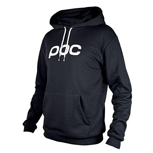 POC Printed Logo Long Sleeve Skateboarding Hoodie, Uranium Black, Medium