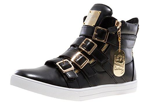 J75 by Jump Men's Zealot High-Top Fashion Sneaker Black 13 D US by Jump