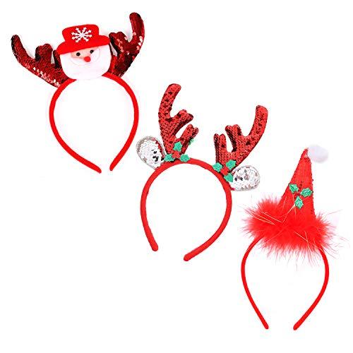 Christmas Headbands Elves Party Hats Christmas Bow Reindeer Santa Caps Snowman Costume Headbands For Christmas Holiday -