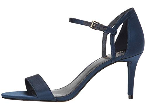 Michael Michael Kors Womens Simone Mid Sandal Leather, Admiral Blue, Size 6.5
