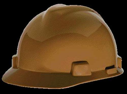 MSA Tan Polyethylene Cap Style Hard Hat With 4 Point Pinlock Suspension - Pack of 20 by MSA SAFETY SALES LLC (Image #1)