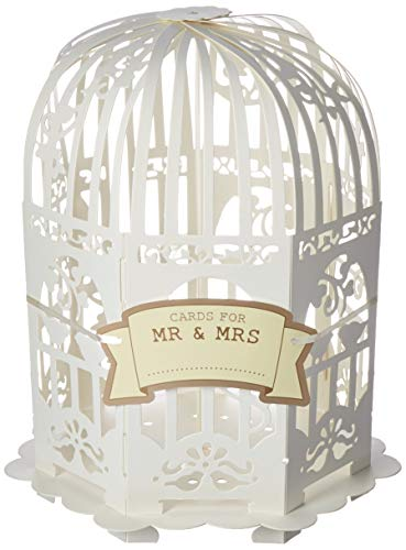 Ginger Ray VL-223 Ivory Vintage Birdcage Wedding Card Post Box