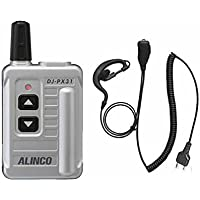 アルインコ DJ-PX31 (シルバー)+耳掛け式イヤホンマイク (HD-24MI)セット