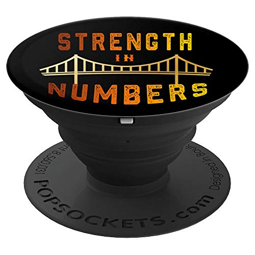 Strength In Number Basketball fans Golden-State Bay-Area - PopSockets Grip and Stand for Phones and Tablets