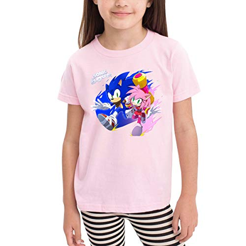 MountGet Sonic The Hedgehog Children's 2-6 Age Short Sleeve T-Shirts 4T Pink]()