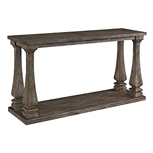 Fabulous Signature Design By Ashley Johnelle Console Table Weathered Gray Wood Pabps2019 Chair Design Images Pabps2019Com