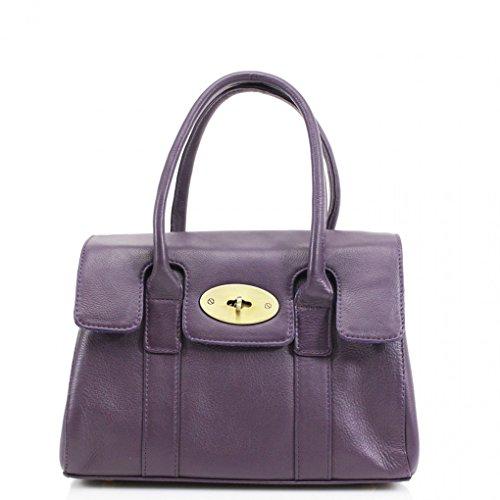 Sac Betoulière Grete Cuir Celeb Sacs Réal Violet Femme Tote À Leahward® Genuine Cw32 37x13x28cm Style Main Taille xvHPwqFAn